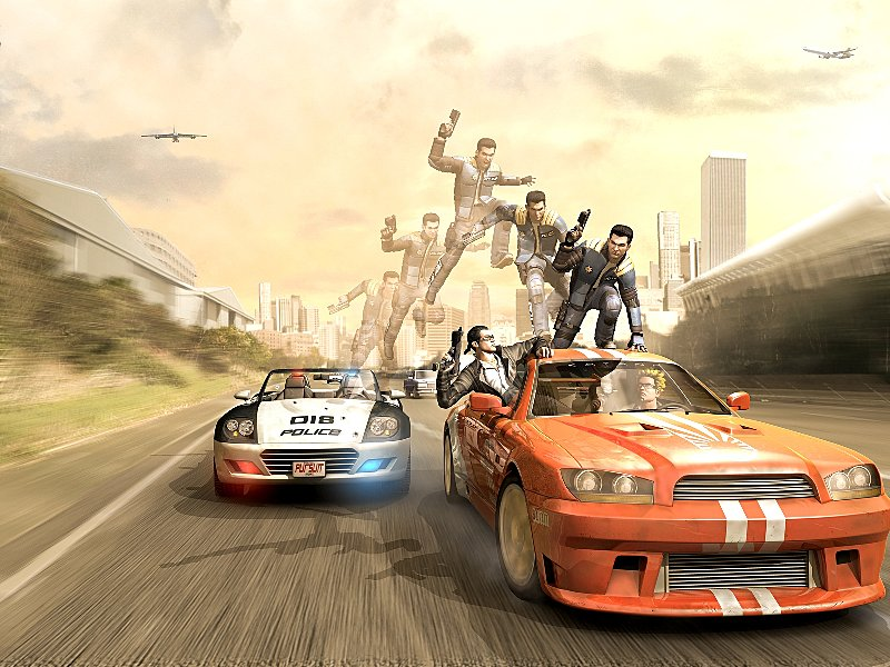 Pursuit Force - PSP Artwork