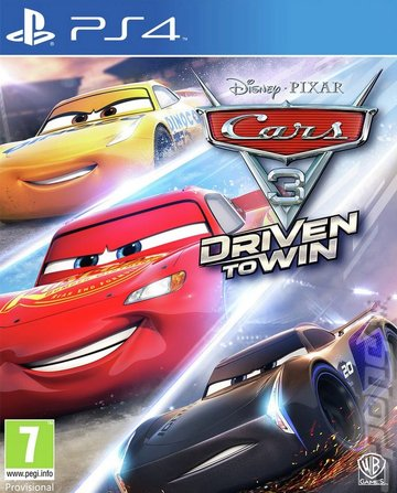 Cars 3: Driven to Win - PS4 Cover & Box Art