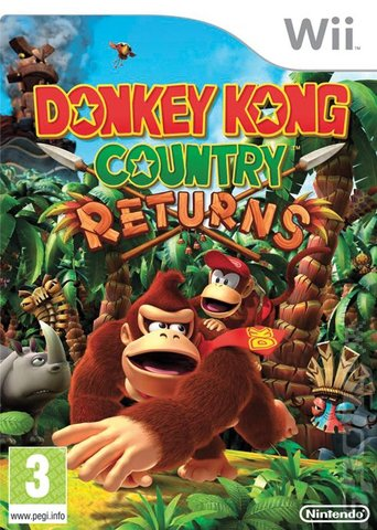 Donkey Kong Country Returns - Wii Cover & Box Art