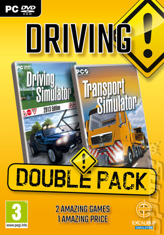 Driving Double Pack - PC Cover & Box Art