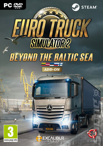 Euro Truck Simulator 2: Beyond the Baltic Sea - PC Cover & Box Art