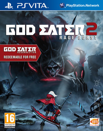 God Eater 2: Rage Burst - PSVita Cover & Box Art