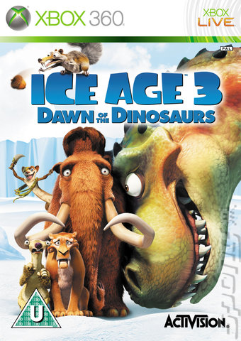 Ice Age: Dawn of the Dinosaurs - Xbox 360 Cover & Box Art