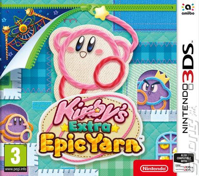Kirby's Extra Epic Yarn - 3DS/2DS Cover & Box Art