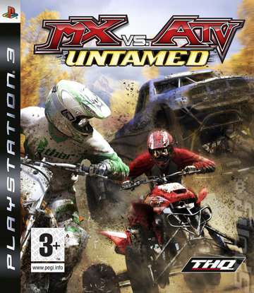 MX Vs. ATV Untamed - PS3 Cover & Box Art