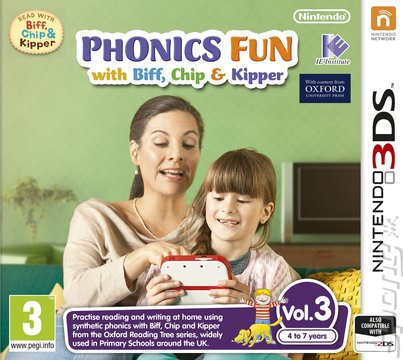 Phonics Fun with Biff, Chip & Kipper: Vol 3 - 3DS/2DS Cover & Box Art