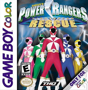 Power Rangers Light Speed Rescue - Game Boy Color Cover & Box Art