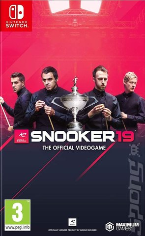 Snooker 19: The Official Video Game - Switch Cover & Box Art