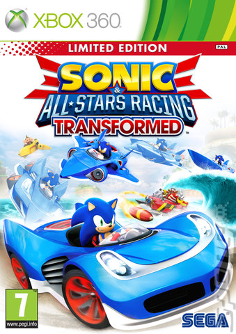 Sonic & All-Stars Racing Transformed - Xbox 360 Cover & Box Art