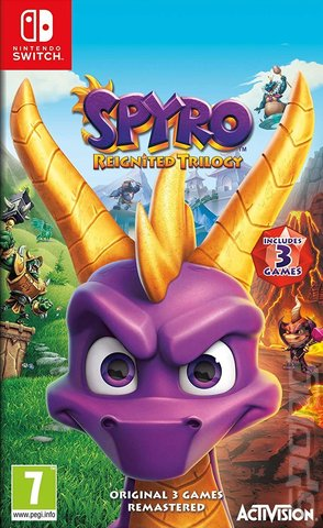 Spyro Reignited Trilogy - Switch Cover & Box Art