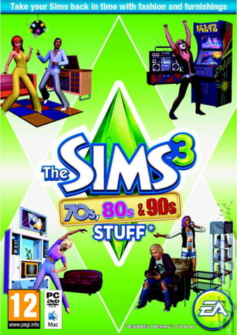 The Sims 3: 70s, 80s, & 90s Stuff Pack - PC Cover & Box Art