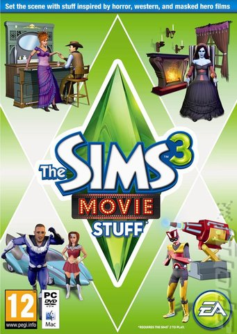 The Sims 3: Movie Stuff - PC Cover & Box Art
