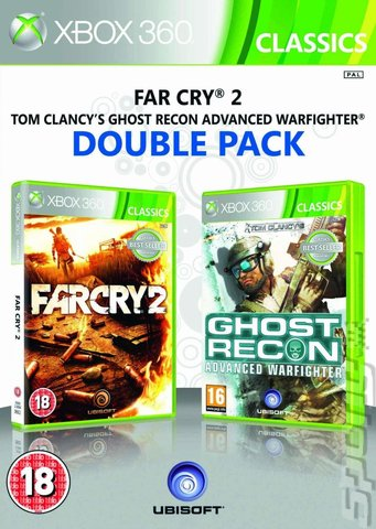 Ubisoft Double Pack: Far Cry 2 & Ghost Recon: Advanced Warfighter - Xbox 360 Cover & Box Art