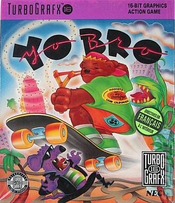 Yo' Bro - NEC PC Engine Cover & Box Art