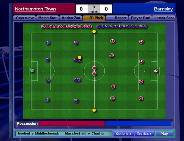 Championship Manager 5 - PS2 Screen
