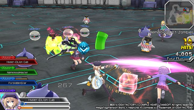 MegaTagmension Blanc + Neptune VS Zombies - PSVita Screen