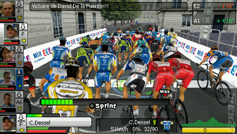 Pro Cycling Manager: Season 2010: Le Tour De France - PSP Screen