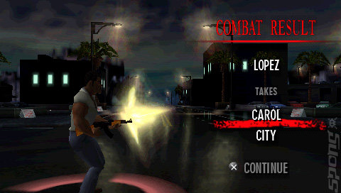 Scarface: Money. Power. Respect. - PSP Screen