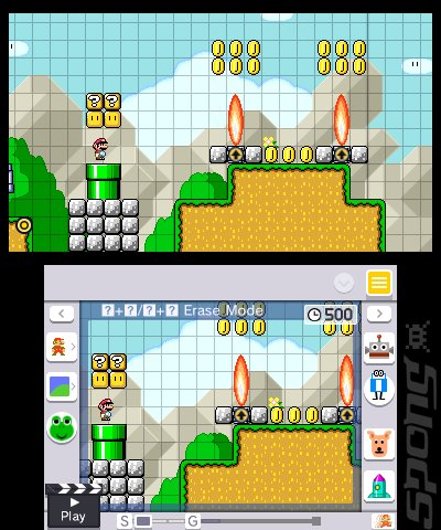 Super Mario Maker 3DS Editorial image