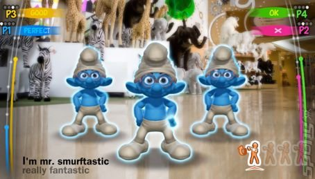 The Smurfs Dance Party - Wii Screen
