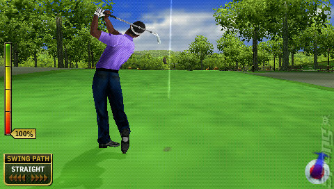Tiger Woods PGA Tour 07 - PSP Screen