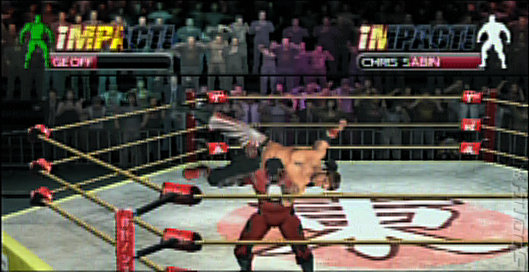 TNA Impact Cross The Line - PSP Screen