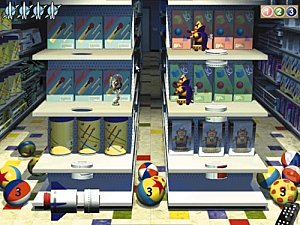 Toy Story 2: Toy Shelf /Cone Chaos - PC Screen