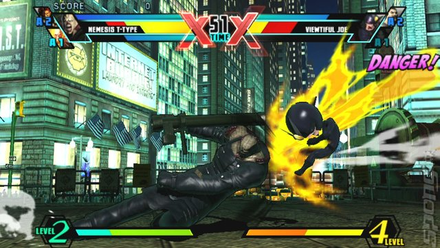 Ultimate Marvel vs. Capcom 3 - PSVita Screen
