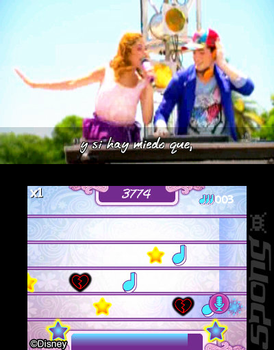 Violetta: Rhythm & Music - DS/DSi Screen