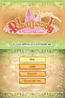 Rhapsody: A Musical Adventure - DS/DSi Screen